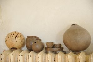 Drying clay pieces by MissUmlaut