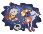 Comm: Riley and Mellow (IN SPACE!) by RedBlooper