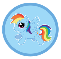 MLP Button: Rainbow Dash by Psyoren
