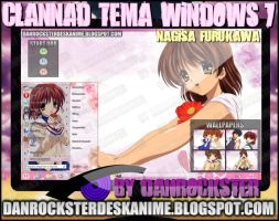 Nagisa Furukawa Theme Windows 7 by Danrockster