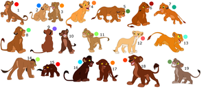 FREE !!!!!!!!!!!!!!!!! lion cub adoptables 9 by knowitall123-adopts