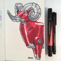 March of Robots Day 4: Bighorn Sheep by D-MAC