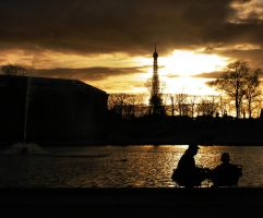 Paris Sunset by alifsu17