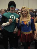 Green Lantern and Supergirl by ZeroKing2015