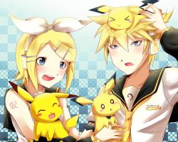VOCALOID:play with Pikachu by Fryapeinleve