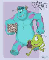 Mike and Sulley Miyazaki style by ingunnsara