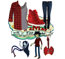 Adventure Time- Marceline/Marshall Lee by brie-grimes-twd