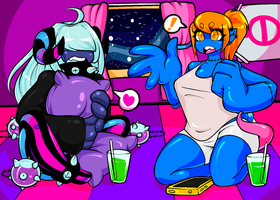 Space Girl Slumber Party by Pleasure-Sloth