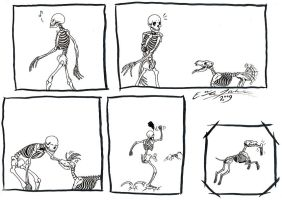 Skeleton comic by Paperiapina