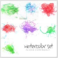 Watercolor set. by ngdieuly