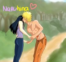 Kiss At the forest NARUHINA by polale21