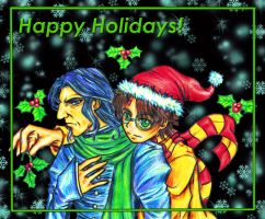 A Snarry Christmas Card by ahou