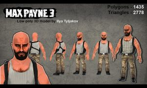 Maxpayne3 Low-poly model by Ilya Tyljakov by RaZuMinc