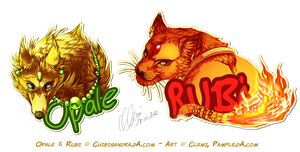 Badge - Opale and Rubi by Pample