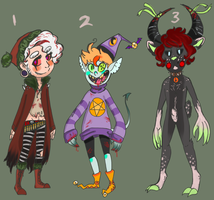 Christmas Adoptables (closed) by xZombieFerret