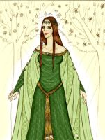 Yavanna: The Two Trees + Color by andi-scribbles