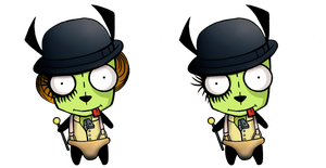 A Clockwork...Gir -version 1 and 2 by goRillA-iNK