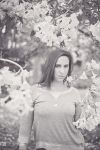 Amongst the Flowers BW by CandiceSmithPhoto