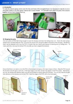 Gundam/mecha cosplay costume tutorial- Lesson 11-1 by Clivelee
