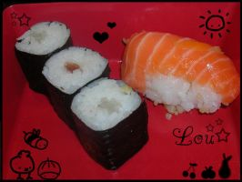 sushi for lunch by LouBerry