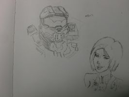 Master Chief And Cortona by TemperedSlingShot