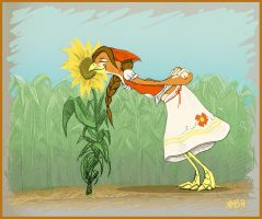 Aeris - Summer Sunflower by anniebobannie