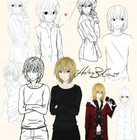 Mello/Near Art Dump by HaleyBopComet