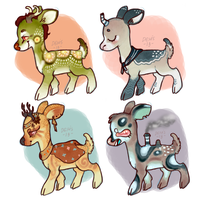 Twisted Deer Adopts (batch 3, Wikipedia inspired). by ClassicCriminal