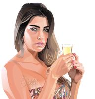 Real Vector : Girl with Glass of Water by ndop