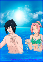 SasuSaku Summer vacation 1 by byBlackRose