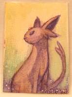 Espeon ACEO by catghost