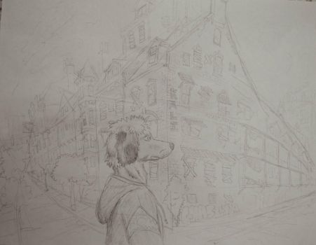 trade-dog abandoned building by timid-wolf
