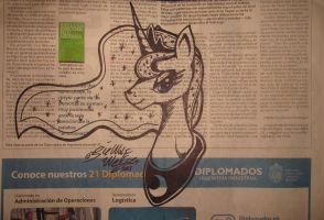 02-02-15 Princess on newspaper by Lorfis-Aniu