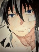Very bad drawing of Rin Okumura by Sonnenelfe
