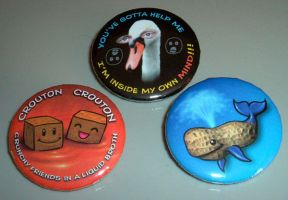 My Mighty Boosh fan-badges by Niki-UK