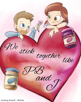 Growing Around: PB and J Valentine by MissyMeghan3