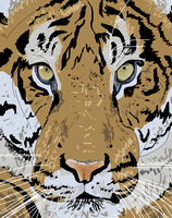 Tiger pen art by ConkerTSquirrel