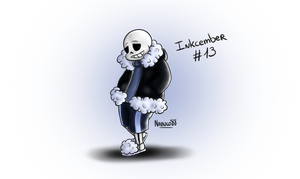 Inkcember 13 - Monofell!Sans by Nabuco88