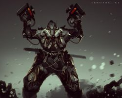50mins Speedpaint Photobash NO MORE BULLETS by benedickbana
