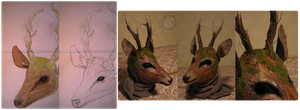 The Deer Child - Sketches by Nymla