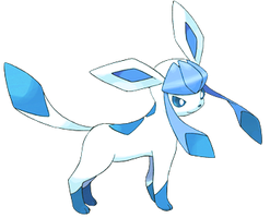 Shiny Light Blue and White Glaceon by Magic-Lover2128