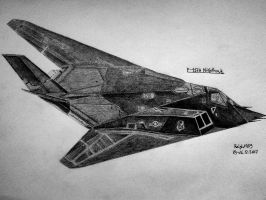 F-117A Nighthawk #1 by Ralph1989