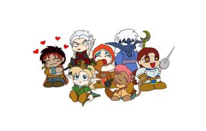 RPG Chibis +colour+ by TheMuffin
