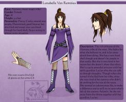 Character sheet: Lunabelle by Yowsie