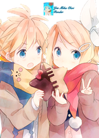 kagamine twins render 2 by Yeemiku