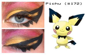 Pokemakeup 172 Pichu by nazzara