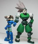 Blue Hero and Green Pirate by score6