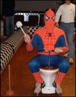 Spiderman Riding the Toilet by thetoad01