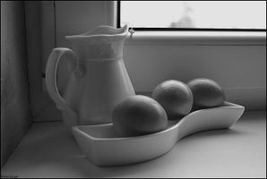 Still life with egg 2. by Verenique