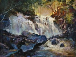 Parente's Chase Creek Falls by artistwilder